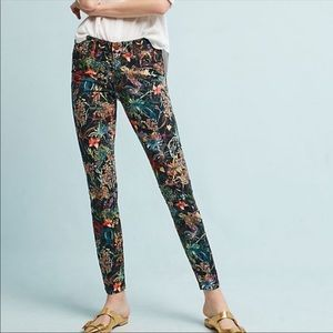 Pilcro and the Letterpress Mid-Rise Skinny Floral